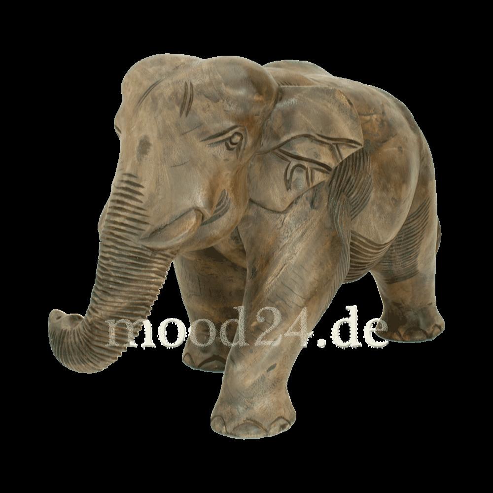 Elefant 59x38 aus Holz handgeschnitzt