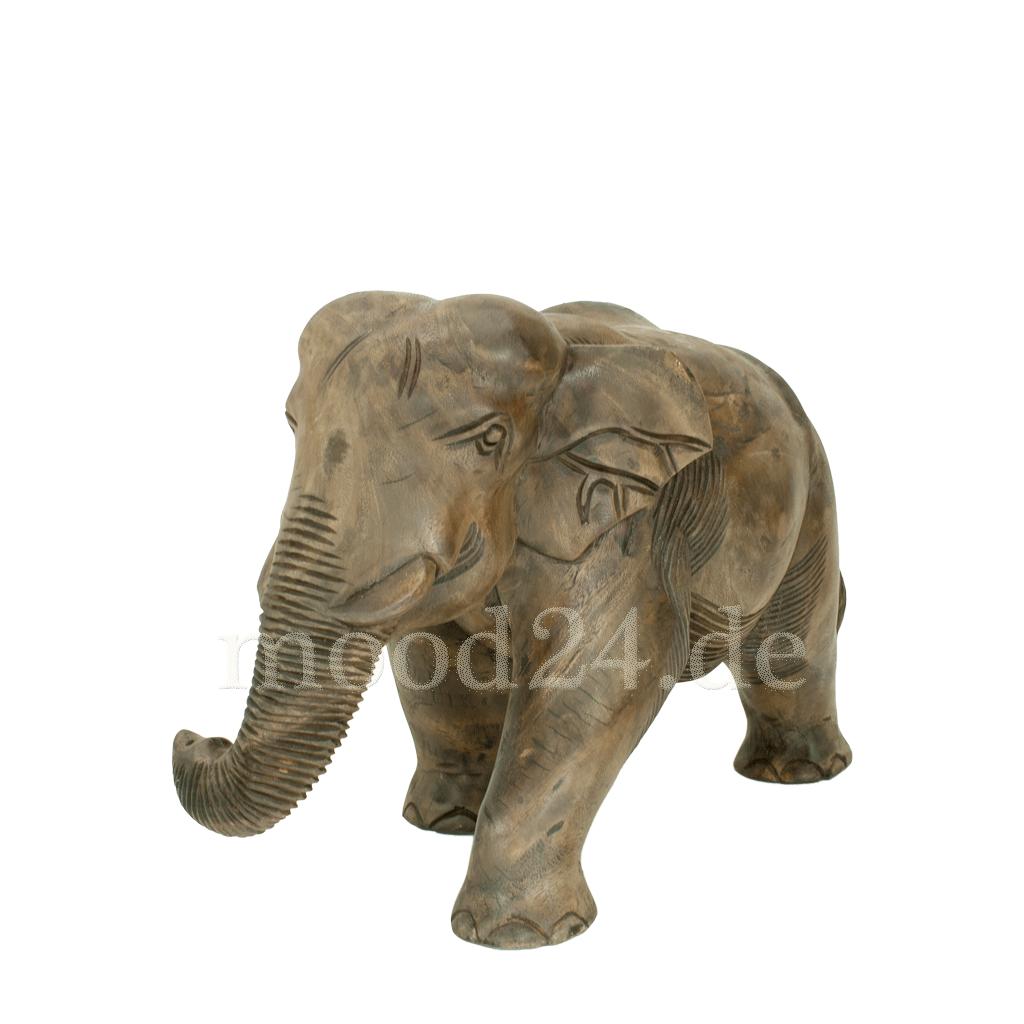 elefant 45x27 aus holz handgeschnitzt. Black Bedroom Furniture Sets. Home Design Ideas