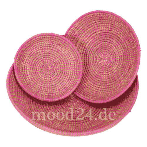 Korbschalen - Obstkorb 3-er Set Pink mittelgross